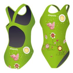 Damen Schwimmanzug-Birdie green mit breiten Trägern