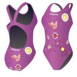 Damen Schwimmanzug-Birdie lila mit breiten Trägern