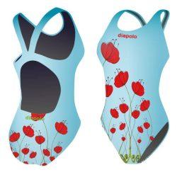 Damen Schwimmanzug - Ponceau mit breiten Trägern