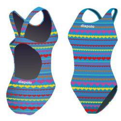 Damen Schwimmanzug-Hearts mit breiten Trägern