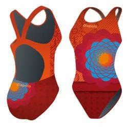 Damen Schwimmanzug - Bohemian flowers 1 mit breiten Trägern