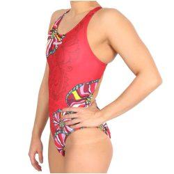 Damen Schwimmanzug-Bohemian flowers 2 mit breiten Trägern
