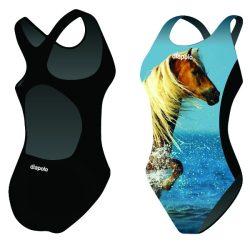 Damen Schwimmanzug-Horse 1 mit breiten Trägern