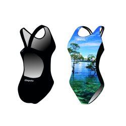 Damen Schwimmanzug-Landscape mit breiten Trägern