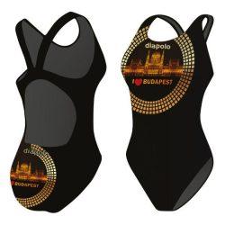 Damen Schwimmanzug-Budapest 2 mit breiten Trägern