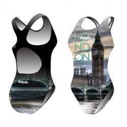 Damen Schwimmanzug - London 3 mit breiten Trägern