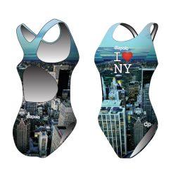 Damen Schwimmanzug - New York mit breiten Trägern