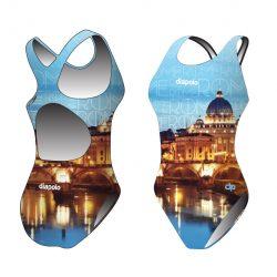 Damen Schwimmanzug - Rome mit breiten Trägern