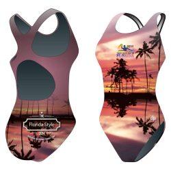 Damen Schwimmanzug-HWPSC Florida palms mit breiten Trägern