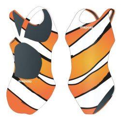 Damen Schwimmanzug-Fish mit breiten Trägern