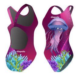 Damen Schwimmanzug-Jellyfish mit breiten Trägern