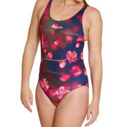 Damen Schwimmanzug - Blossom Flower mit breiten Trägern