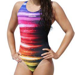 Damen Schwimmanzug-Rainbow Lights