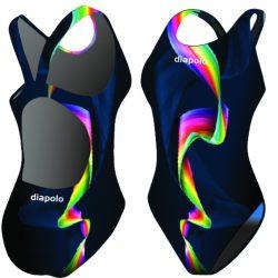 Damen Schwimmanzug - Rainbow Smoke