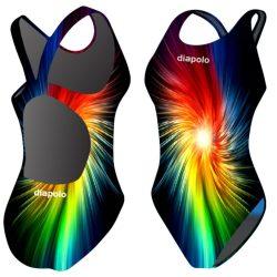 Damen Schwimmanzug-Rainbow Fractal