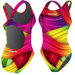 Damen Schwimmanzug-Rainbow Flesh