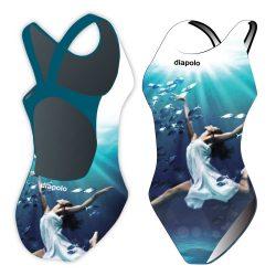 Damen Schwimmanzug-Sync ballerina