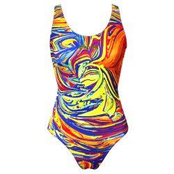 Damen Schwimmanzug-Colorful 1 mit breiten Trägern