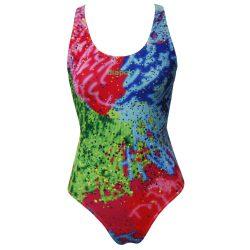 Damen Schwimmanzug-Colorful 2 mit breiten Trägern