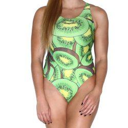 Damen Schwimmanzug - Kiwi fruit mit breiten Trägern