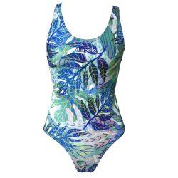 Damen Schwimmanzug - Leaves mit breiten Trägern