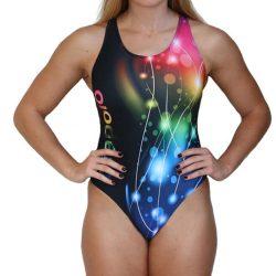 Damen Schwimmanzug - Lightcolor mit breiten Trägern