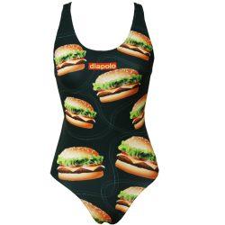 Damen Schwimmanzug - Burger mit breiten Trägern