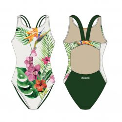 Damen Schwimmanzug - Orchid mit dünnen Trägern