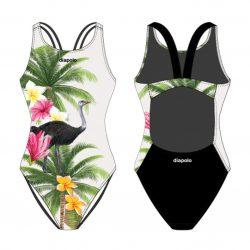 Damen Schwimmanzug-Ostrich mit breiten Trägern