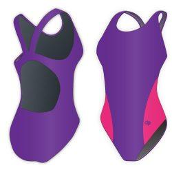 Damen Schwimmanzug-Classic 6 mit breiten Trägern