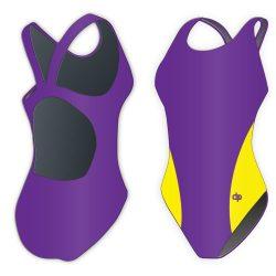 Damen Schwimmanzug-Classic 8 mit breiten Trägern