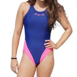 Damen Schwimmanzug-Classical navyblau/pink mit breiten Trägern