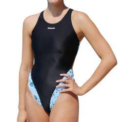 Damen Schwimmanzug-Aqua Bubble mit breiten Trägern