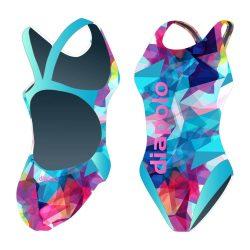 Damen Schwimmanzug - Color Triangle mit breiten Trägern