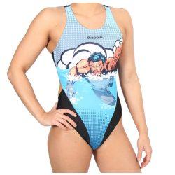 Damen Schwimmanzug - Comics Superheroes Swimmer mit breiten Trägern