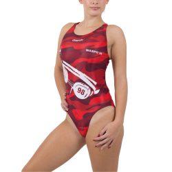 WASPO 98 - Damen Schwimmanzug mit breiten Trägernn Design2