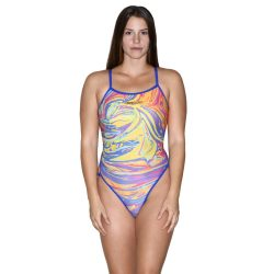 Damen Badeanzug - Colorful 1 mit dünnen Trägernn