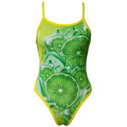 Damen Badeanzug - Lemon Lime Fruit mit dünnen Trägernn