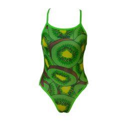 Damen Badeanzug - Kiwi Fruit  mit dünnen Trägernn