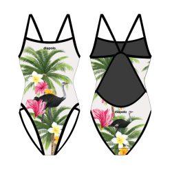 Damen Schwimmanzug - Ostrich mit dünnen Trägern