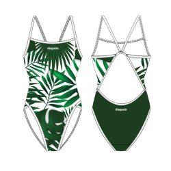 Damen Schwimmanzug - Leaf mit dünnen Trägern