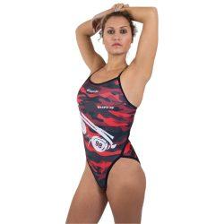 WASPO 98 - Damen Schwimmanzug mit dünnen Trägernn Design1