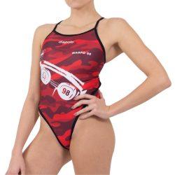 WASPO 98 - Damen Schwimmanzug mit dünnen Trägernn Design2