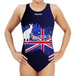 Damen Wasserballanzug-Australia mit breiten Trägern