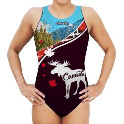 Damen Wasserballanzug-Canada mit breiten Trägern