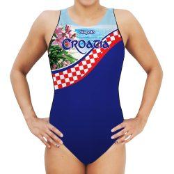Damen Wasserballanzug-Croatia mit breiten Trägern