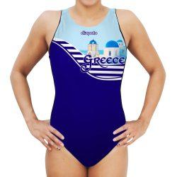 Damen Wasserballanzug-Greece mit breiten Trägern