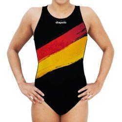 Damen Wasserballanzug-Germany mit breiten Trägern