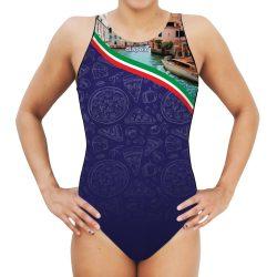 Damen Wasserballanzug-Italy mit breiten Trägern