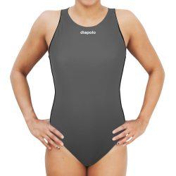 Damen Wasserballanzug-Comfort-grau